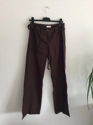 Braune Leinen Hose in Größe 38