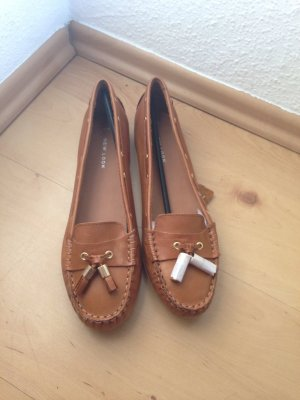 braune Loafer / Mokassins, aus Leder, Gr. 39, New Look, neu!