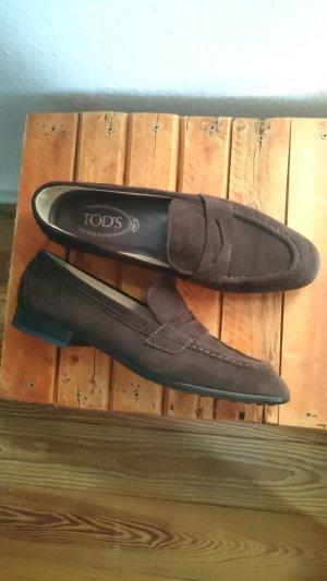 Tod's Zapatos formales sin cordones marrón oscuro