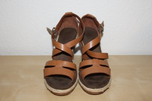 Marc O'Polo Wedge Sandals cognac-coloured leather
