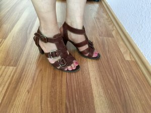Marco Tozzi High-Heeled Sandals brown