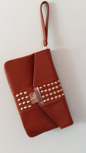 Clutch multicolored imitation leather