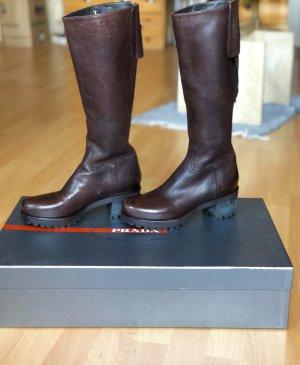 Braune neue Prada Stiefel mit Karton 36