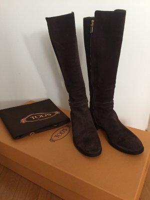 Braune Nubuk Stiefel von Tod's, Größe 38