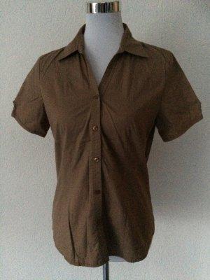 braune / ocker Bluse kurzarm von Montego - Gr. 38