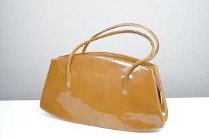 Braune Ocker farbene Handtasche L. Credi