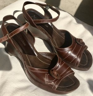 Accatino Platform Sandals brown leather