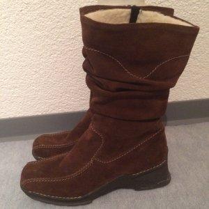 braune Rieker Stiefel / Stiefeletten aus Leder - wenig getragen - Gr. 38