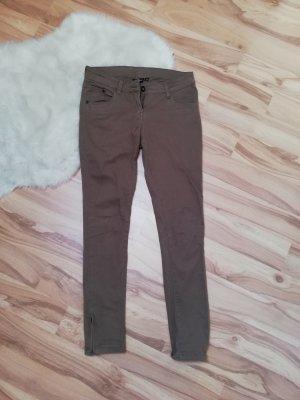 Esmara Pantalón de tubo marrón claro-marrón