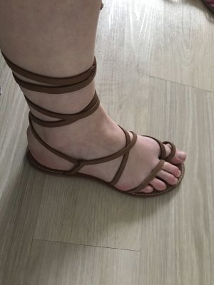 Mango Roman Sandals light brown