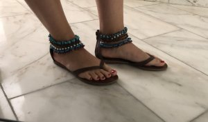 Exe Toe-Post sandals multicolored imitation leather