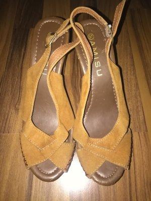 Amisu Platform High-Heeled Sandal light brown