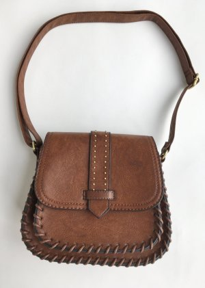 New Look Satchel brown-gold-colored