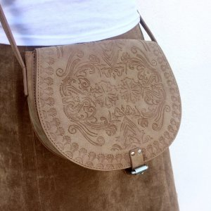 Crossbody bag light brown-brown