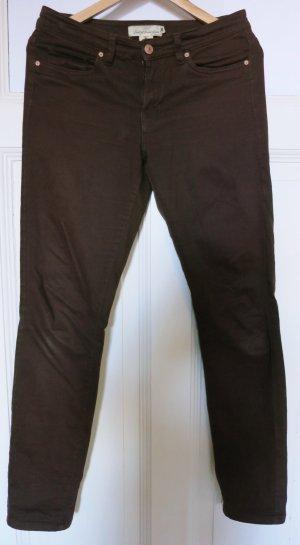 H&M L.O.G.G. Pantalone a vita bassa marrone Cotone