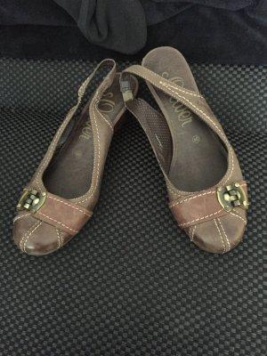 Braune Schuhe mit Absatz