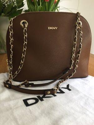 Braune Schultertasche von DKNY wie neu inkl. Staubbeutel