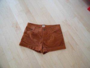 Braune Shorts, Cord; Gr. 38