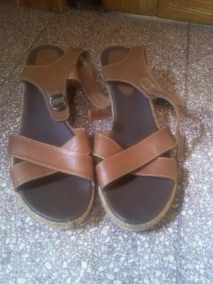 Blue Motion Platform Sandals brown