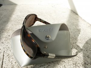 braune Sonnenbrille mit Etui von DKNY