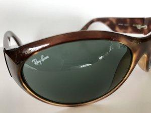 Braune Sonnenbrille mit graugrünen Gläsern