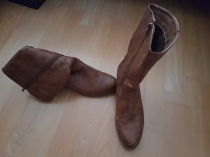 High Boots brown imitation leather