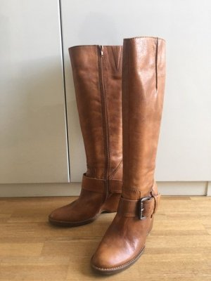 Apepazza Platform Boots cognac-coloured leather