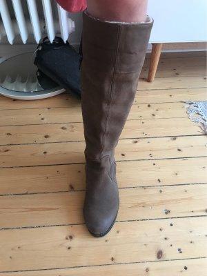 Shoot Botas estilo militar marrón Cuero