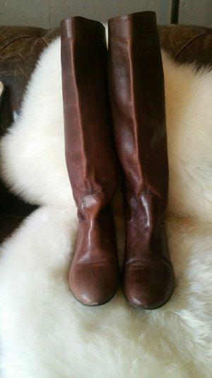 Braune Stiefel, Echtleder, Buffalo London, offiziell 37, fällt kleiner aus