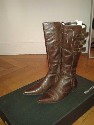 Braune stiefel im Antiklook von Marc O'Polo