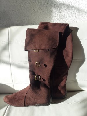 Braune Stiefel in Gr. 37 mit Reißverschluss