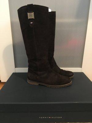 Braune Stiefel | Leder | Tommy Hilfiger | 39