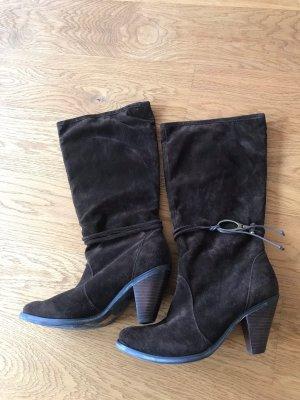Braune Stiefel von Mimao Gr 40 im Wildleder Look