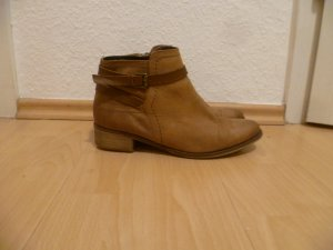 Braune Stiefeletten, 5th Avenue, echtes Leder, Ankle Boots Winter,Herbst,Blogger
