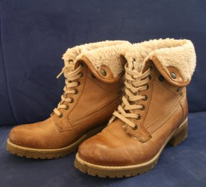 Bama Winter Booties light brown-camel imitation leather