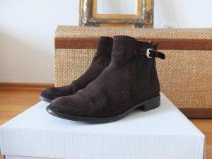 braune Stiefeletten Chelsea Boots von Massimo Dutti Größe 36 Wildleder Echtleder Leder