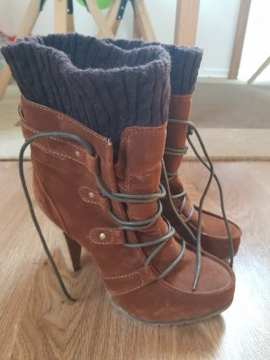 Even & Odd Lace-up Booties brown-dark brown