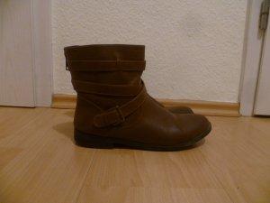 Braune Stiefeletten von JustFab in 42, Boots, Winter, Herbst, Blogger