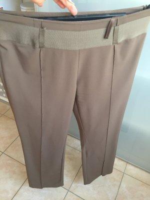 Comma Pantalon de costume gris brun-marron clair