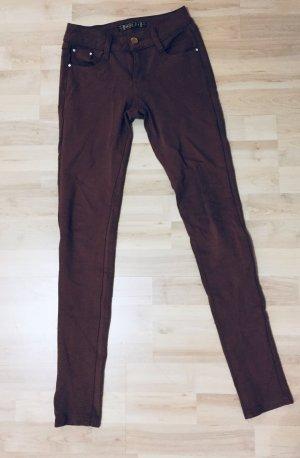 Jeggings marrón-coñac