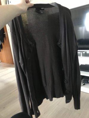 H&M Chaqueta estilo camisa marrón-negro