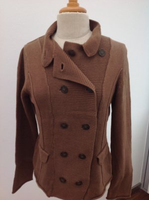 Braune Strickjacke - Sandwich