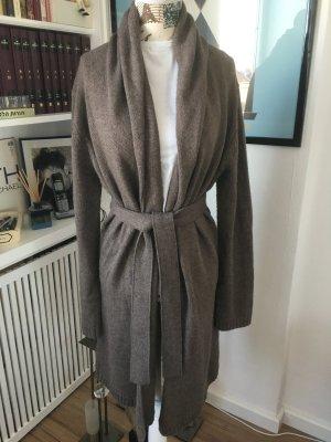 Blaumax Giacca in maglia marrone-grigio Tessuto misto