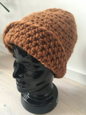 Braune StrickMütze Handmade