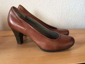 Tamaris Pumps dark brown-brown leather