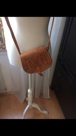 Braune Tasche aus Spanien echtes Leder NEU