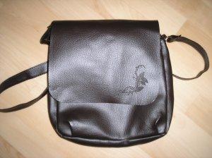 Braune Tasche Kunstleder mittelgroß