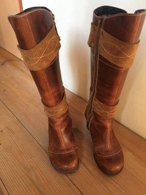 Braune Timberland Stiefel (Leder)