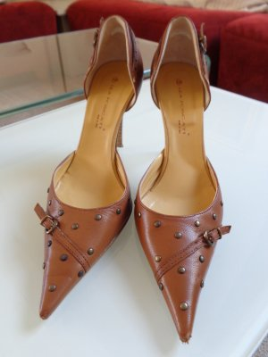 braune trendige High Heels