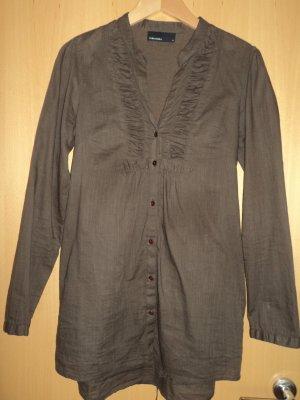 Braune Tunikabluse, Longbluse von Vero Moda, Gr. S